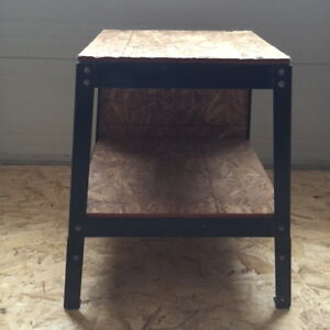 Heavy Duty Workstand with wooden Top, Shelf and Back