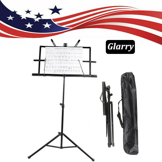 Music Book Tripod Stand Holder Adjustable Folding Player Book Reading With Bag
