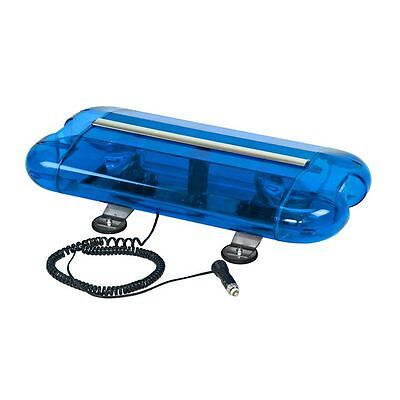Wolo 3555M-B Aurora Halogen Emergency Warning Mini Light Bar - Blue Lens