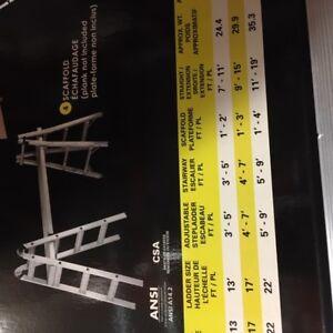Adjustable ladder / scaffold