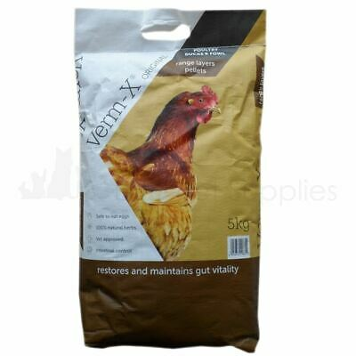 Copdock Mill Verm-X Original Pellets for Poultry Ducks and Fowl Feed Food 5Kg