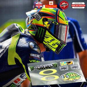 Valentino Rossi 46 Latest Laminated 3m Reflective Helmet