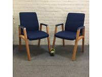 Blue Fabric Conference Chairs