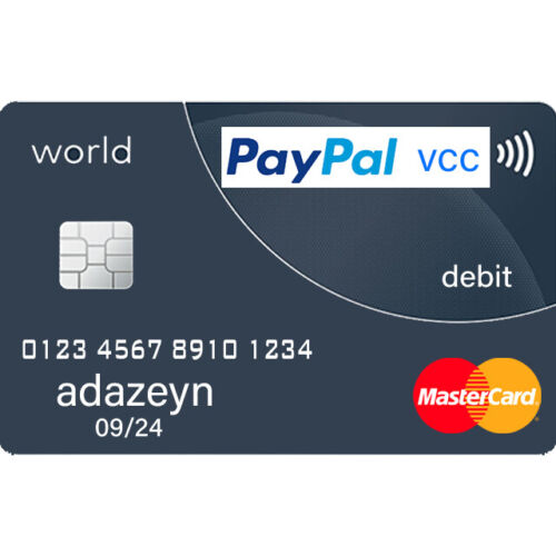 VCC Virtual Credit Card For PayPal Verification 5-24 Hours Fast Delivery