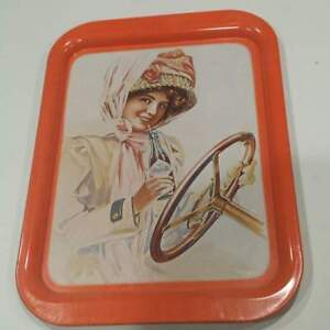 "1972 COCA COLA SERVING TRAY ""GIRL IN DUSTER"""