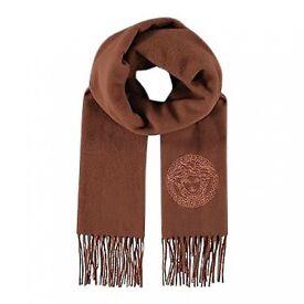 Brown Wool VERSACE Scarf