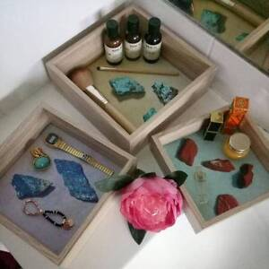 Home Decor Accessories / Vanity / Make Up / Jewellery Box Tray x3 Villawood Bankstown Area Preview