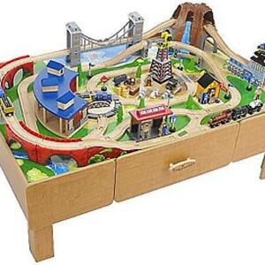 Used- Wooden train set