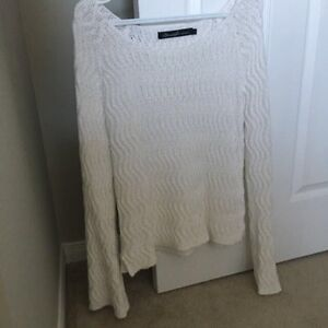 ASOS WHITE KNIT PULLOVER SWEATER-BRAND NEW!