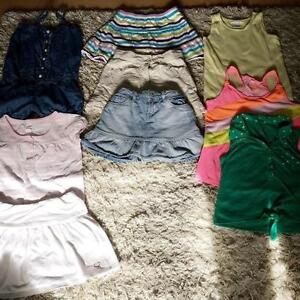 GIRLS SIZE 8 SUMMER CLOTHES LOT JUSTICE, OLD NAVY, GAP, ETC.