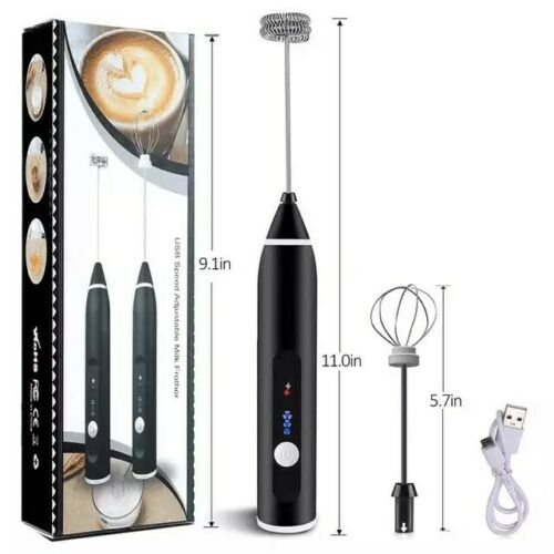 Milk Frother Electric Egg Beater USB Charging Mixer for Coff