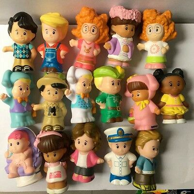 "Random Lot 10pcs - Fisher Price Little People 2.0"" Figure Baby Kid Preschool Toy"