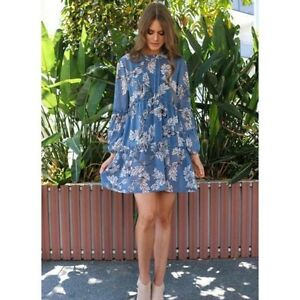 Zimmermann-Style Blue Boho Floral Dress Sydney City Inner Sydney Preview