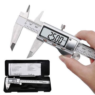 150mm Lcd Screen Digital Vernier Caliper Gauge Micrometer Steel Water Resistant