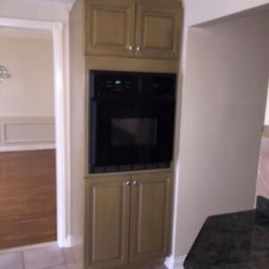 counter top stove, built in dishwasher and built in oven