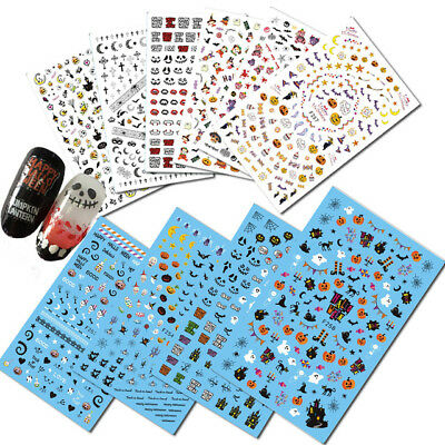 Adesivi per unghie HALLOWEEN DARK PUNK EMO GOTHIC Stickers nail ART manicure