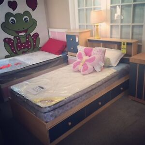 CHILDREN'S MATES BEDS- ASSORTED COLOURS $299.99 WITH HEADBOARD
