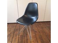 Original Vitra Eames DSR 43cm side chair Black/Chrome