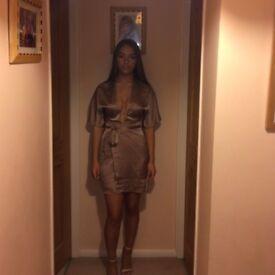 Missguided Silk Dress