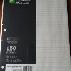 LINED PAPER FOR SCHOOL OR OFFICE
