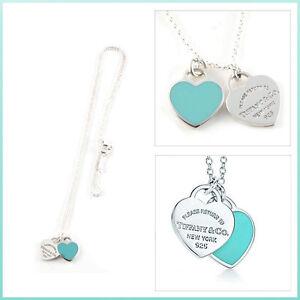 Return to Tiffany Double Heart Tag Pendant + Heart Tag Earrings Windsor Region Ontario image 1