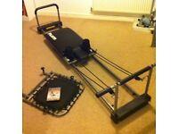 Pilates machine with Cardio Rebounder