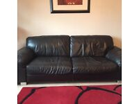 2 sofas and footstool