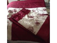 Double bedspread and matching curtains
