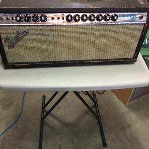 EARLY 70S VINTAGE FENDER BLUE FACED TWIN REVERB HEAD