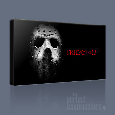 FRIDAY THE 13th HALLOWEEN HORROR MASK ICONIC CANVAS PRINT PICTURE Art Williams](Halloween Mask Pic)