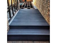 14m2(5.5x3m) Charcoal Comosite Decking including all fixings and trim!