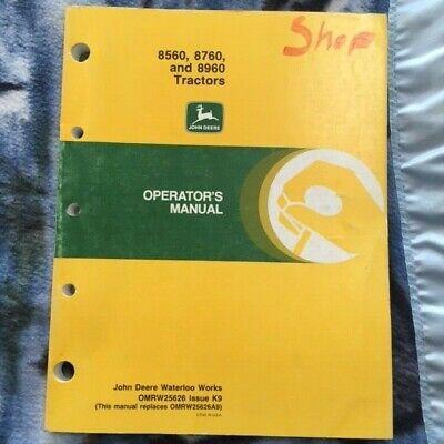 John Deere 8560 8760 And 8960 Farm Tractors Operators Manual Omrw25626