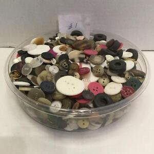 Lot 1 - One container of assorted buttons