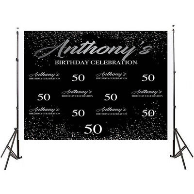 40th Birthday Backdrop (40th 50th Birthday Step and Repeat Backdrop 21st Birthday Photo Booth)
