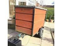 Car Box trailer with loading ramp