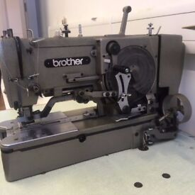 BROTHER STRAIGHT BUTTON HOLE MACHINE £650