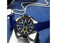 Sport Watch Chronograph Silicone Strap Quartz Military