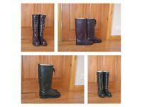 Rain boots from natural rubber by Ilse Jacobsen