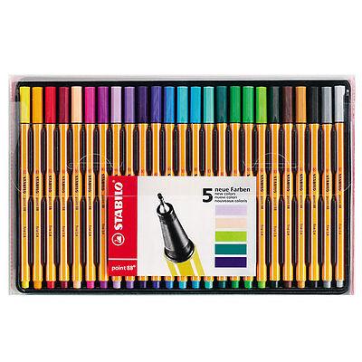 Stabilo Point 88 Fineliner Pens Wallet Of 25 Assorted
