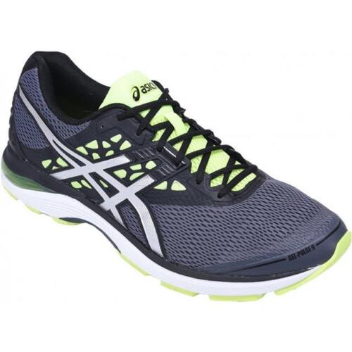 Asics Gel-pulse 9 Trainers Carbonsilversaftey Yellow Big Mens Uk Size 13 -