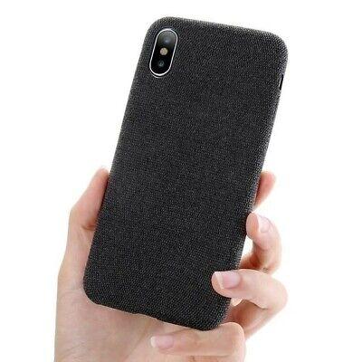 iPhone XS Max Cloth/Fabric Thin Case - Black Black Fabric Case