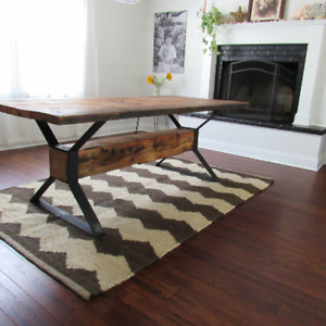 Industrial modern trestle table