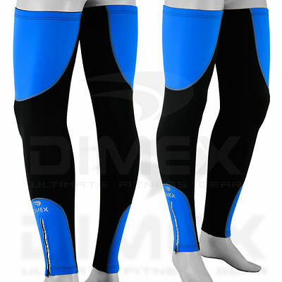 Cycling Leg Warmers Winter Running Thermal Roubix Cycle Knee Blue - S/M - L/XL