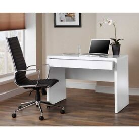 Luxor white computer desk - unpacked from flat pack box (ordered 2 by mistake !)