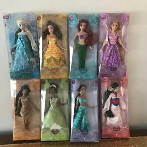 Authentic Genuine Disney Collectible Set of 8  Princess Doll