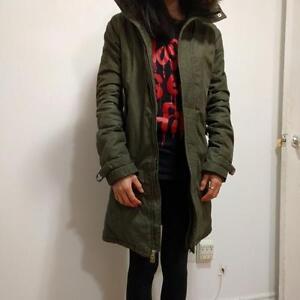 TNA Olive Green Jacket Size XS