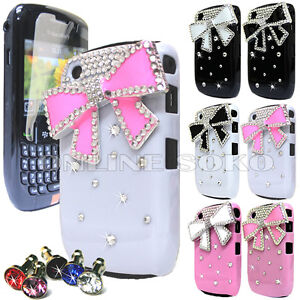 FOR BLACKBERRY 8520 9300 CURVE CRYSTAL 3D DIAMOND BLING CASE DIAMANTE HARD COVER