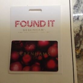 Debenhams Gift Card (Reduced price compared to card value)