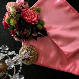 Soft Coral Wedding or Event Linens for Sale