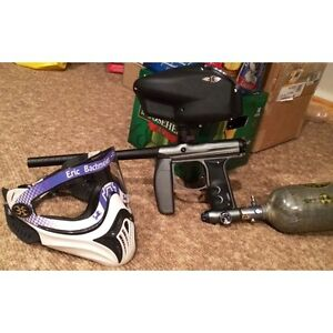 Empire AXE Paintball Marker, Loader, Air Tank, and more